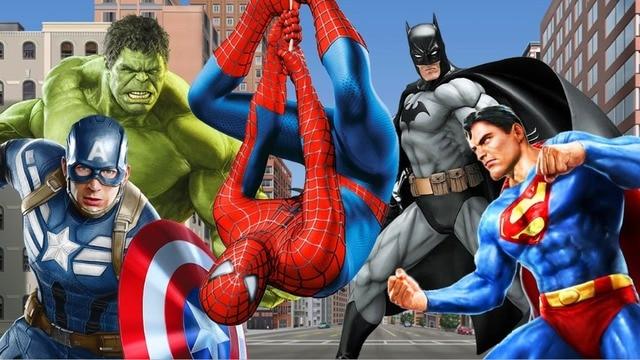 7x5FT Super Heroes Spiderman Superman Hulk Captain Custom Photo Studio Backdrop Background Vinyl 220cm x 150cm