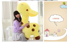 stuffed toy huge 120cm plush toy cartoon spotted giraffe toy throw pillow toy birthday gift d764