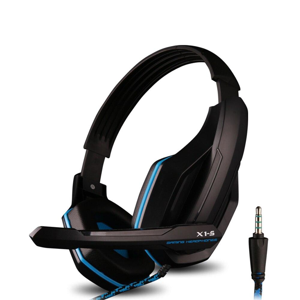 bilder für X1-S 3,5mm Wired Professionelle Gaming Headset Stereo Bass Kopfhörer Über Ohr mit Mikrofon für PC Computer Laptop