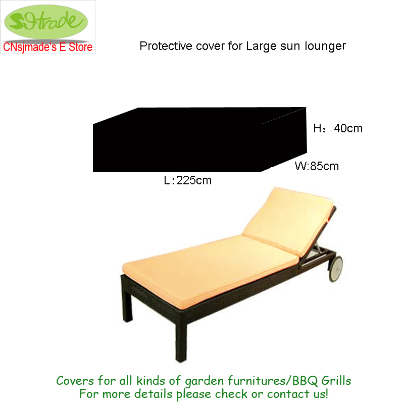 Protective Cover For Large Sun Lounger 225x85x40cm Garden