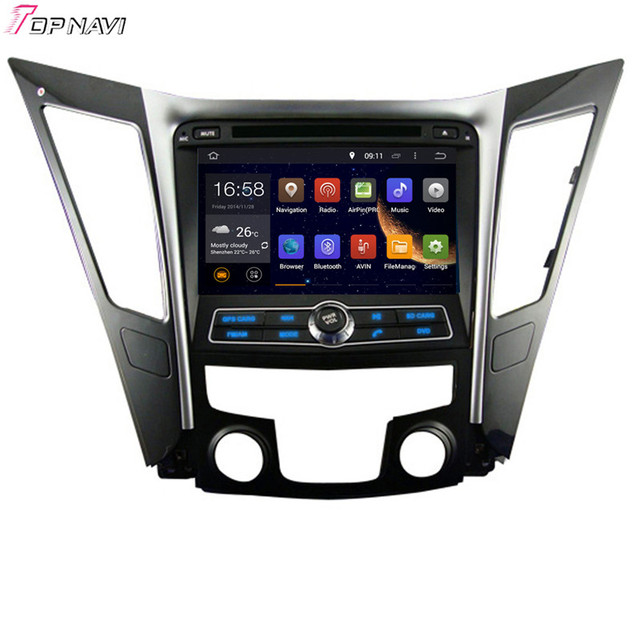 8'' Quad Core Android 5.1 Car GPS For HYUNDAI SONATA I40 I45 I50 YF 2011- With Radio Stereo Multimedia 16GB Flash Free Shipping