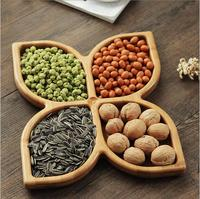 Living room creative snacks dried fruit plate Bamboo fruit candy dish Bamboo snack trays Japanese snack tray