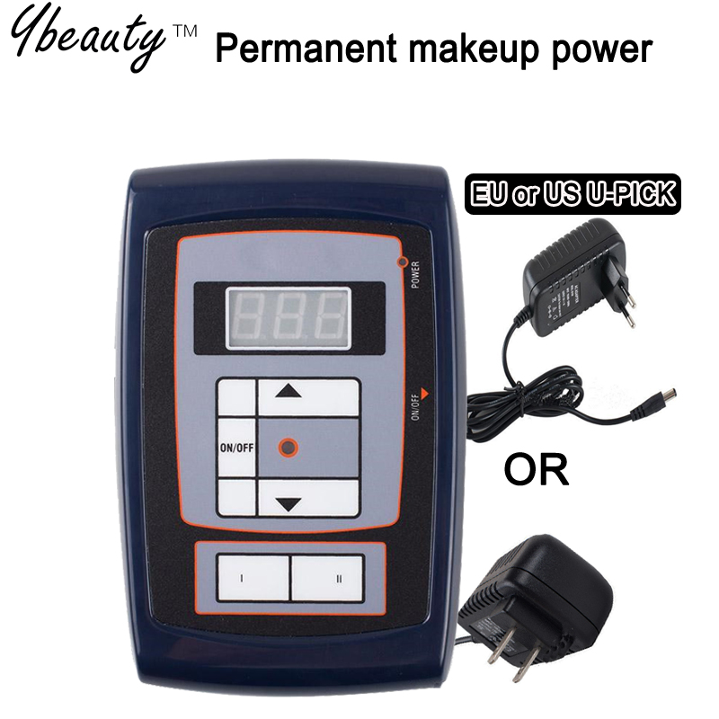 Hot Selling Tattoo Permanent Makeup Power Supply for Eyebrow Make up machine Kits Lips Tattoo Power supply Kit  Free Shipping 2016 new permanent makeup machine pen for eyebrow make up kits