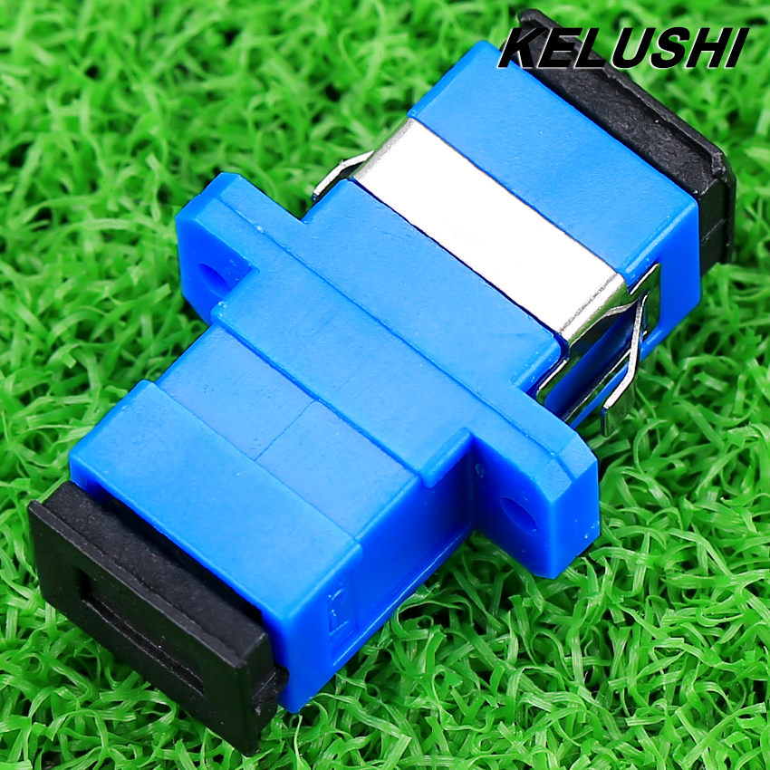 bilder für KELUSHI Hohe qualität 50 stücke Neue SC lwl-adapter SC flansch SC/UPC adapter faserkoppler für digitale kommunikation