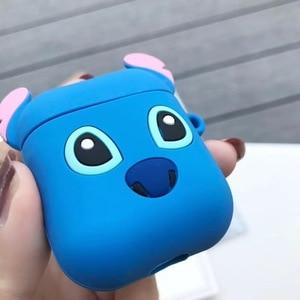 Image 4 - 3D การ์ตูนไร้สายบลูทูธหูฟังสำหรับ Apple AirPods ซิลิโคนหูฟังสำหรับ Airpods ป้องกัน