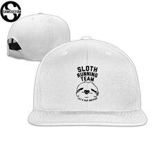 5aa93b295ea SAMCUSTOM cap baseball cap Side 3D printing sloth running team Casual cap  gorras hip hop snapback. 30 Colors Available