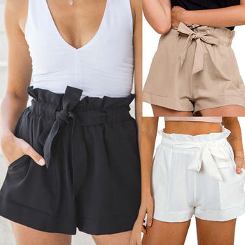 HIRIGIN Hot Summer Casual Shorts Beach High Waist Short Fashion Lady Women