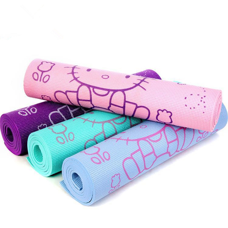 Hello Kitty Yoga Mats Picnic Mats Non-Slip Body Building Health Lose Weight Cushion Fitness Pad Gym Mats