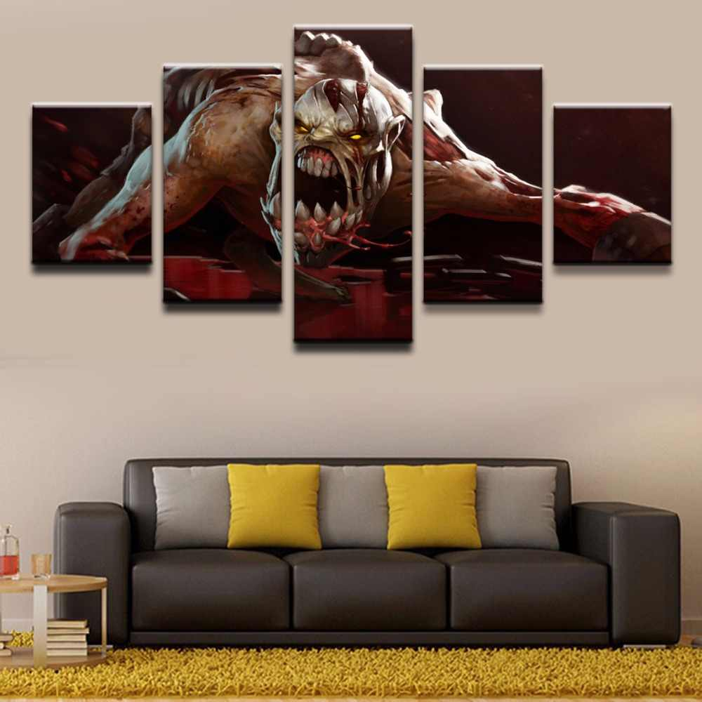 Canvas Home Decorative HD Printed Video Game Poster Wall Art Framework 5 Pieces DOTA 2 Lifestealer Modular Picture Paintings