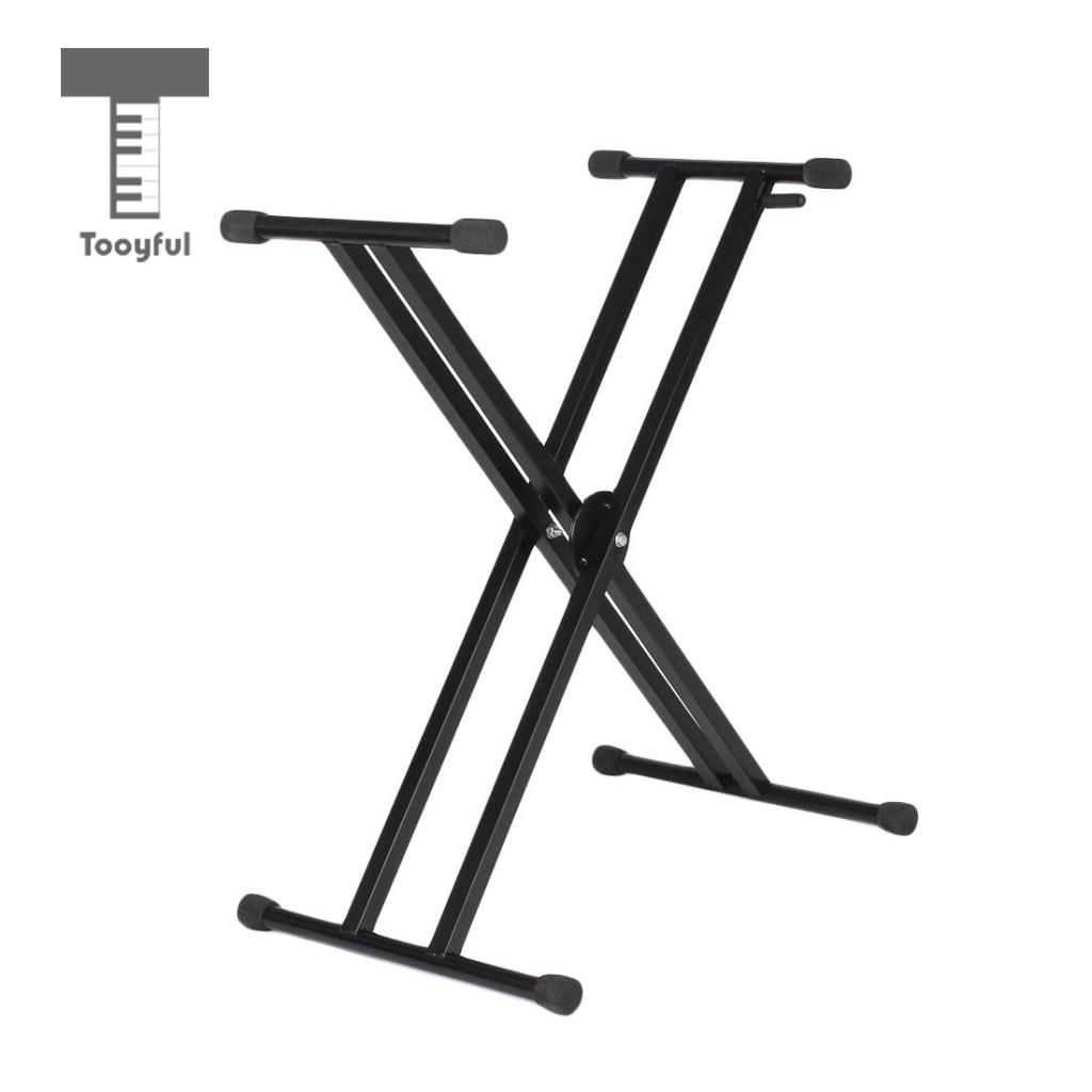 Tooyful Adjustable Double Braced X Style Keyboard Stand Electronic Piano Organ Rack Musical Instrument Parts nord keyboard stand ex