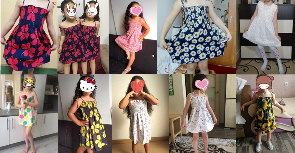 HTB1zyYHShnaK1RjSZFBq6AW7VXaX Kids Dresses for Girls Summer Girl Sleeveless Dress Toddler Flower Print Princess Dress 1 2 3 4 5 6 7 Years Children's Clothing