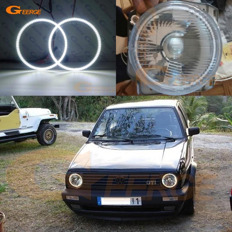 For Volkswagen VW Golf Mk1 Mk2 GTI Euro headlight smd led Angel Eyes kit Day Light Excellent Ultra bright illumination DRL
