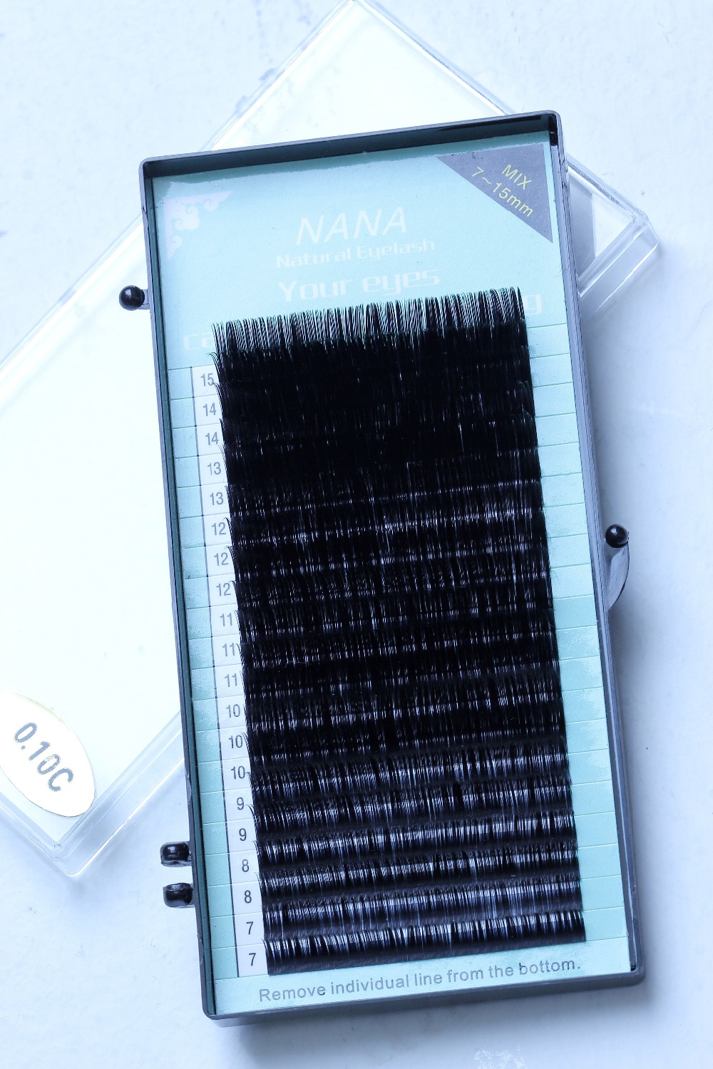 Free shipping 4cases 0.1mm  D curl ,7~15mm MIX ,    20sheets/case, mink extension eyelashes