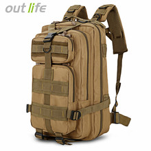 Outlife 25L Outdoor Backpack Military Tactical Camouflage Army Camping Bag Backpack Trekking Hunting Traveling Hiking Rucksack