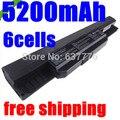 5200mAh Battery For Asus X54H X53U X53S X53SV X84 X54 X43 A43 A53 K43 K53U K53T K53SV K53S K53E k53J K53 A53S A42-K53 A32-K53