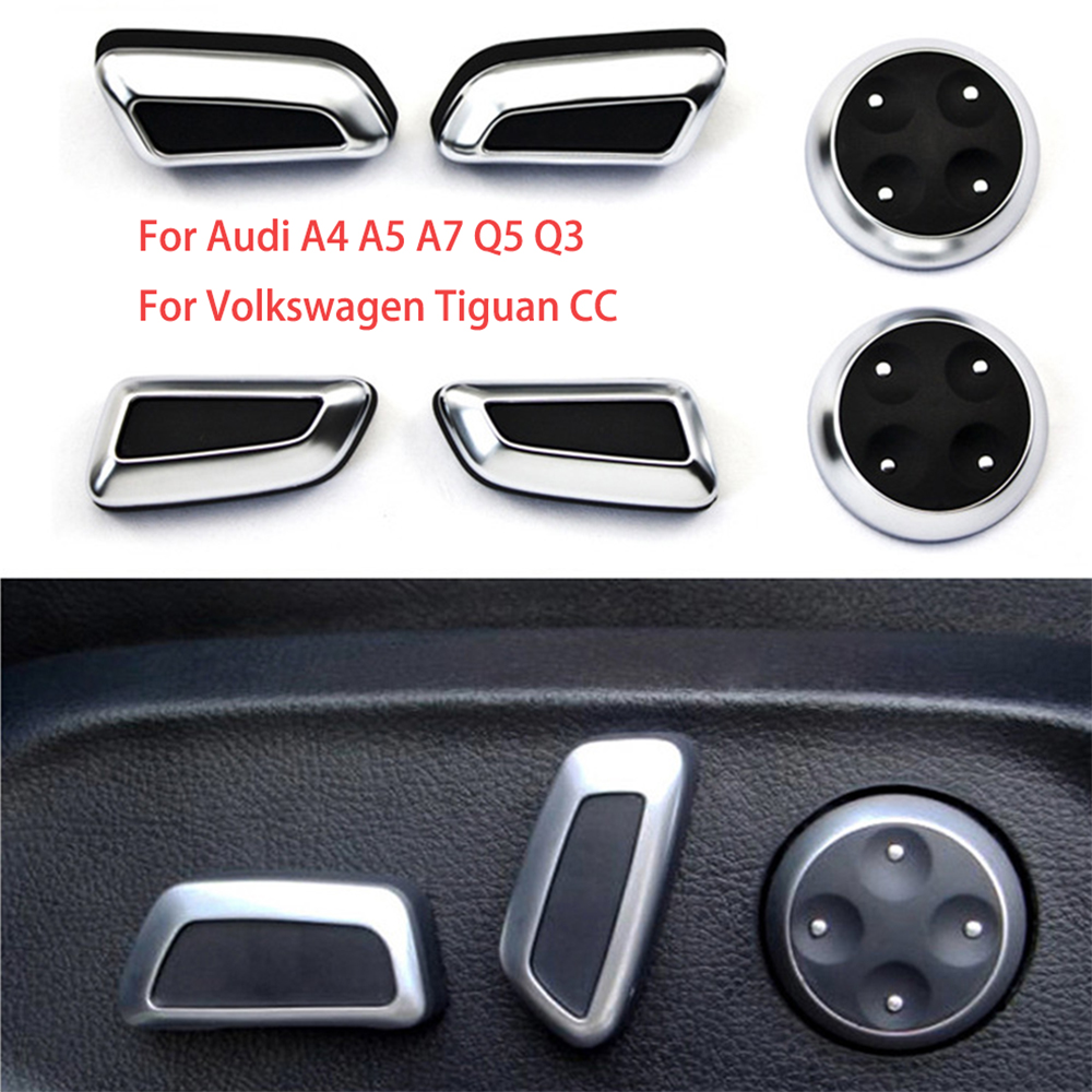 DEE Accessories Seat Adjust Button Cover Trim Chrome For