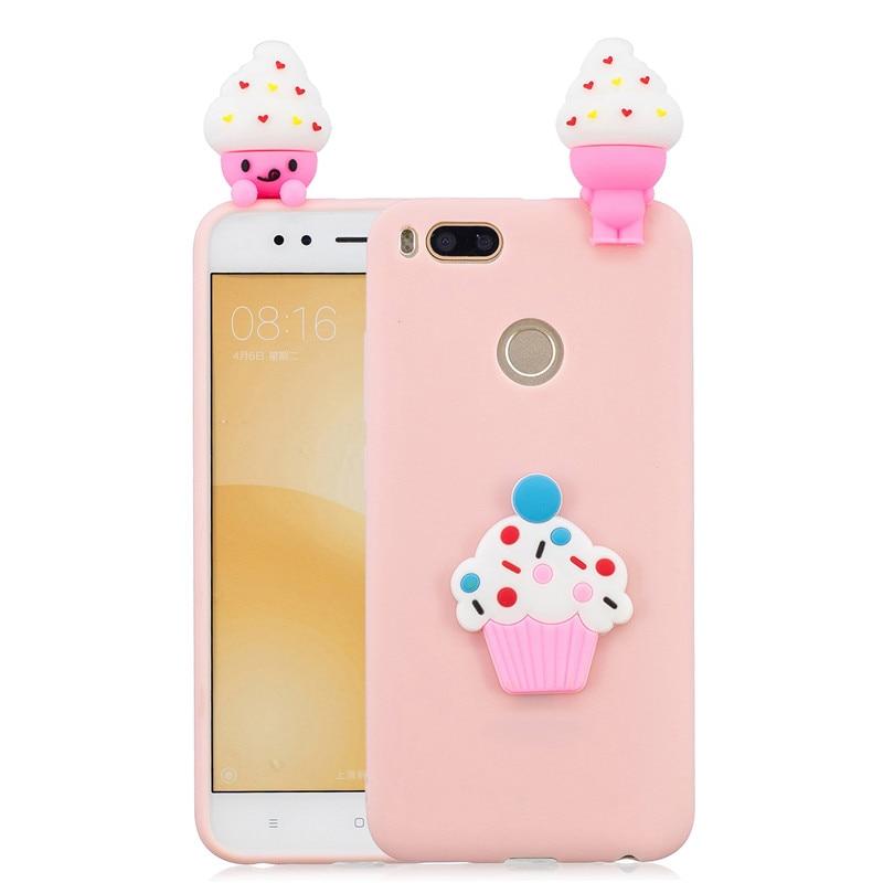 3D Ice-Cream Doll Unicorn Panda Cactus Soft Silicone TPU Case For Xiaomi Mi A1 A2 5X 6X Redmi 4X Note 5A Prime S2 Cover Coque