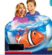 Батареей robo клоун плавательный pet рыба электрический детей с для