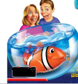 Robo Fish Pet  Swimming Fish clownfish Toy With Battery For Kids   Electric