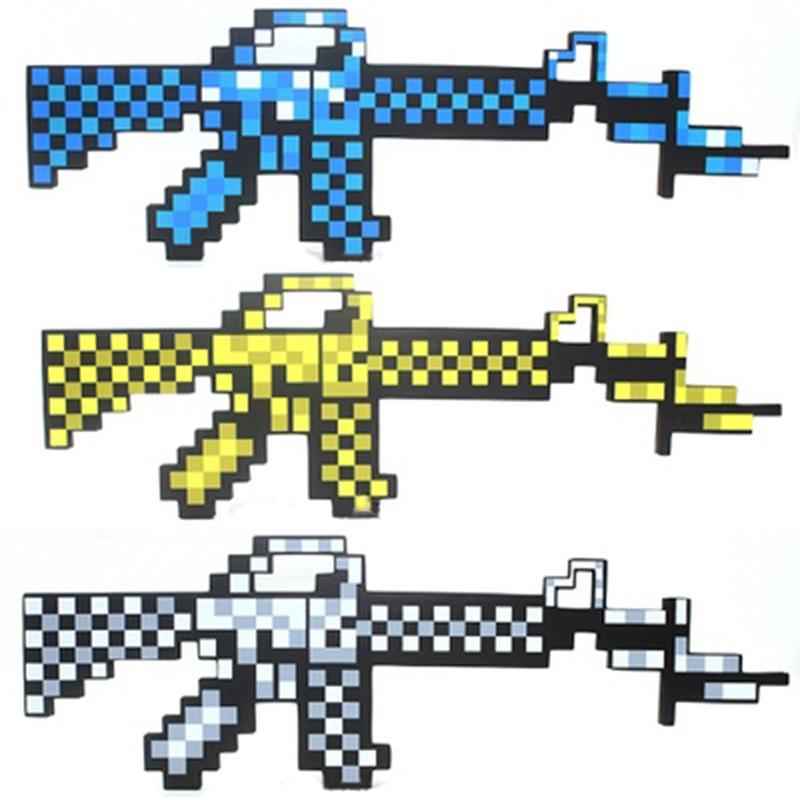 Newest Minecraft Toys Minecraft Sword Gun EVA Foam Model Toy <font><b>Action</b></font> <font><b>Figures</b></font> Toys Brinquedos Gifts for Kids Children <font><b>Fun</b></font>