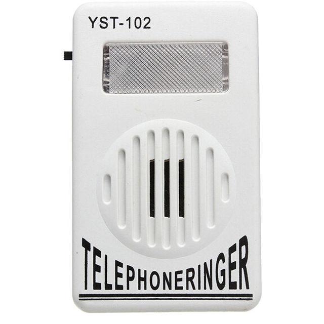 95dB Extra-Alto Strobe Pisca Anel de Toque Amplificador Telefone Telefone Campainha Som Da Campainha Campainha de Telefone