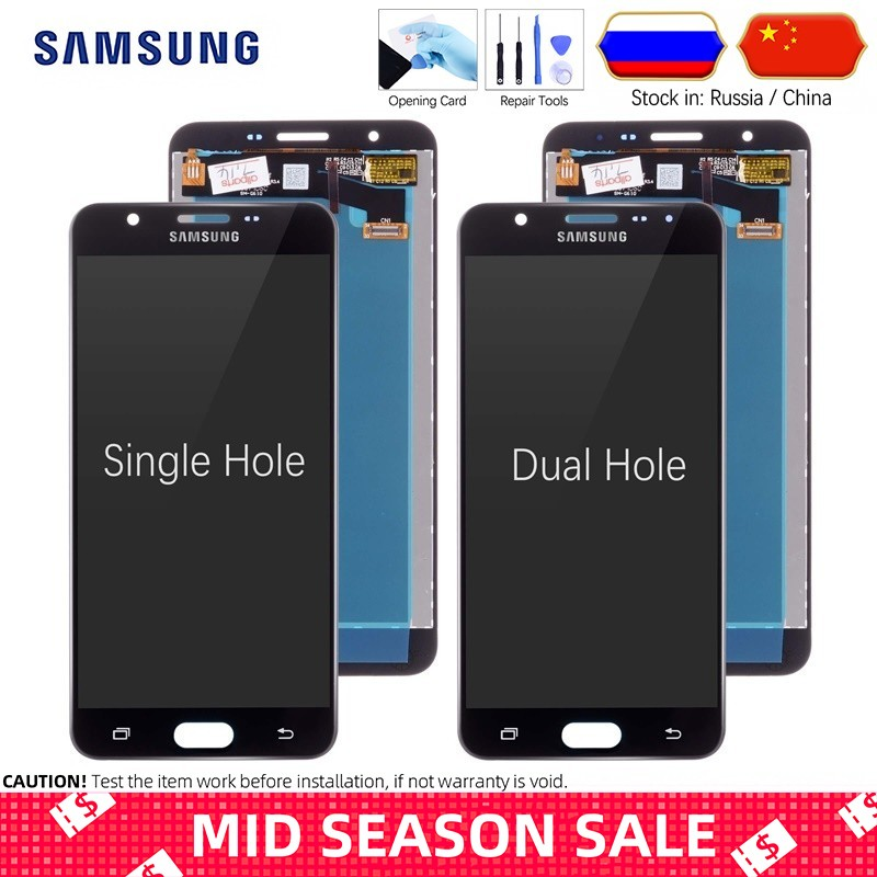 5.5'' Original Display for SAMSUNG Galaxy J7 Prime LCD Touch Screen  G610 G610F G610M For SAMSUNG J7 Prime 2016 LCD