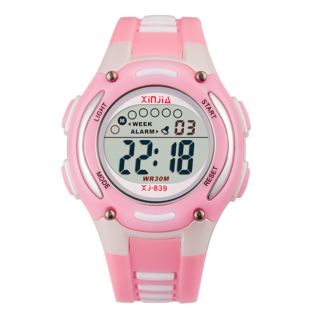 2016 New Children Watch Jelly Color Waterproof 30M For Student Fashion Cute Stop