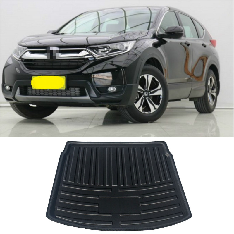 Rear Trunk Cargo Mat For  Honda CRV CR-V 2017 2018 2019 Upper Deck Position Boot Liner Tray Floor Mat Carpet Mud Pad Protector