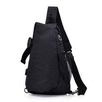AiiaBestProducts - Fashion Brand Canvas Men Chest Pack Crossbody Bag Casual 1