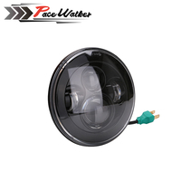 1x For Harley Wrangler 7 Inch Round H13 H4 45W LED Projector Headlights