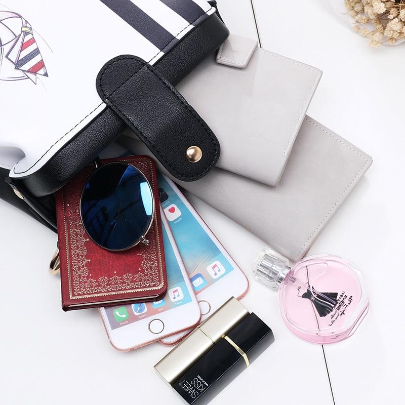 2017 Women Personality Fashion Buckle Small square bag Designer Handbag Casual Shoulder Messenger Bag New Sac Femme 4