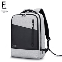 FRN USB Charging Men 15 inch Laptop Backpack Waterproof School Bagpack Mochila Masculina Casual Travel Backpack Anti theft Male