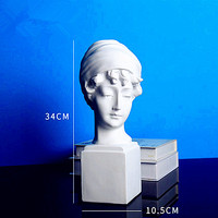 British Girl Bust Statue Figure Head Portraits Resin Craftwork Office Show Window Living Room Decoration L2705