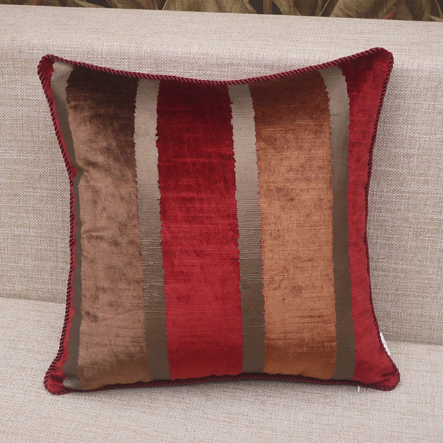 Vintage Fabric Pillows Sofa Cover Set Ethnic Pillow Covers Ikea Decoration Red Brown Plaid Shabby Chic