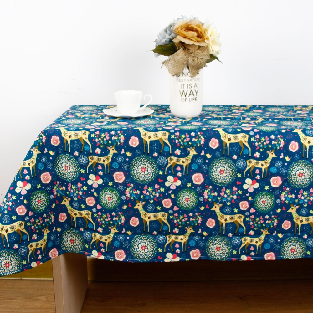 High Quality Car Printed Cotton Linen Blackout Curtain: New Europe Print High Quality Tablecloth For Dinner Linen
