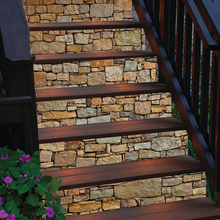 6pcs/set Stone Decal Waterproof 3D Stair Stickers18*100cm