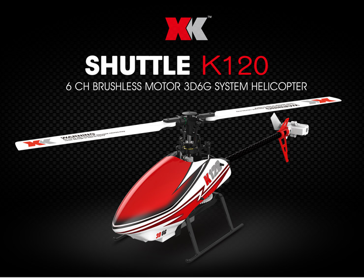Wltoys XK K120 Shuttle 6CH Brushless Motor 3D 6G System RC Helicopter RTF 2.4GHz Compatible with FUTABA S-FHSS VS Wltoys V977 original xk k124 bnf without tranmitter ec145 6ch brushless motor 3d 6g system rc helicopter compatible with futaba s fhss