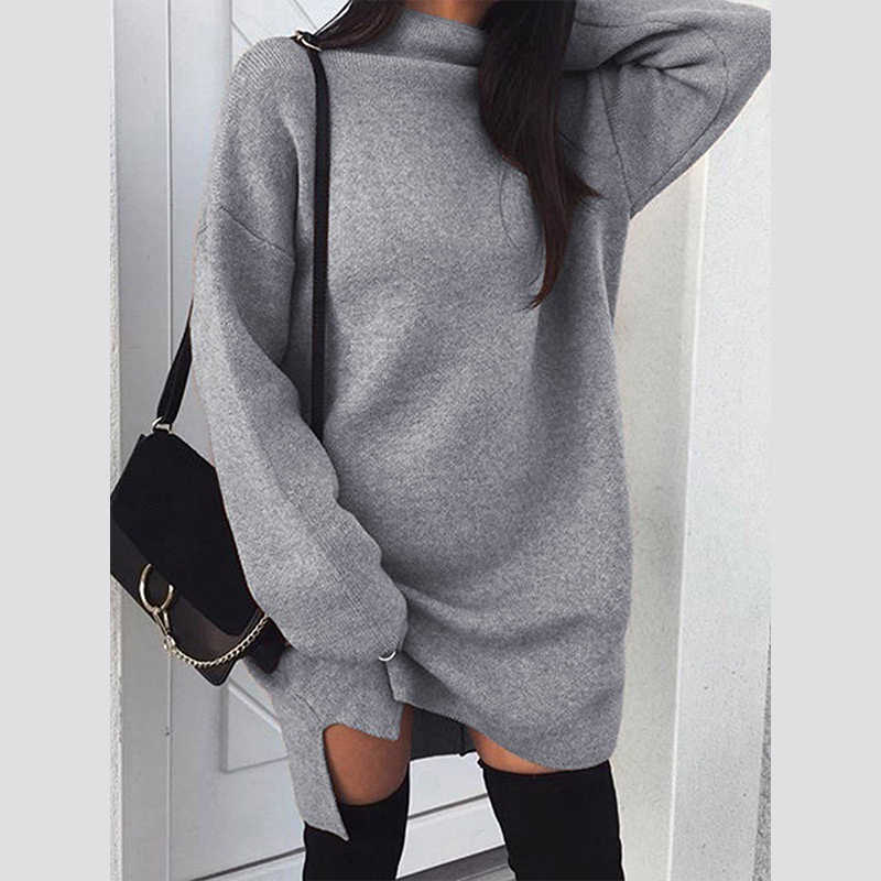 2018 Fashion Winter Women Sweaters Long Sleeve Female Tops Plus Size  Pullover Knit Pull Femme Hiver 972973fba4e9