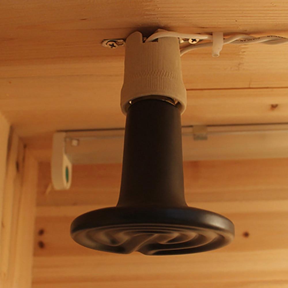 LAIDEYI культивированная черная 25 Вт 50 Вт 75 Вт 100 Вт керамическая изоляционная лампа керамическая нагревательная лампа не светящаяся нагревательная лампа 220-240 В