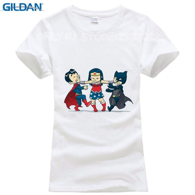 2017 Fashion Three Super Child Cartoon Printed T-Shirt Girls Personalized  Custom T Shirt Funny Summer Good Quality Tops