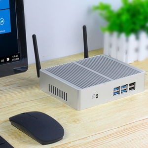 Image 1 - Intel Core i7 7200U i3 7100U i5 5200U Fanless Mini PC Windows 10 Mini Desktop Computer 4K HTPC Nettop PC HDMI VGA 6*USB WiFi