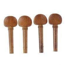 5X 4 x 4/4 Violin Jujube wood Pegs Light Brown
