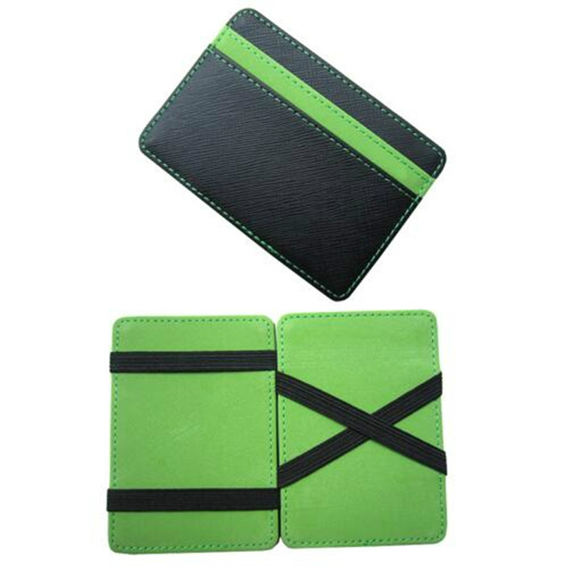 High Quality Luxury Famous Brand PU Leather Magic Wallets Men Money Clip Fashion Designer Dollar Purses Retail And Wholesale