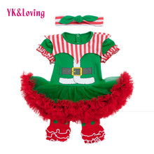 Newborn Vestido Infant 3Pcs Girl Tutu Dress First Christmas Baby Clothing Girls Clown Suit New Year Dresses Kid Outfit