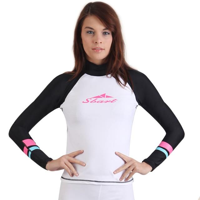 Upf50 + rashguard mujeres lycra surf Prendas térmicas traje de baño de protección solar manga Natación bodyboard Neoprenos windsurf kitesuff