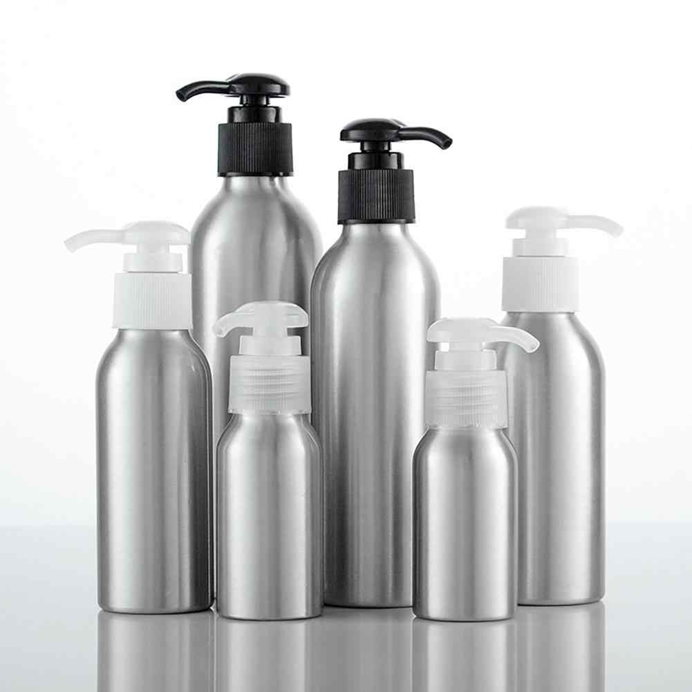 40ml-250ml Aluminum Bottle Storage Lotion Sanitizer Shampoo Round Pump Container Refillable Bottles New