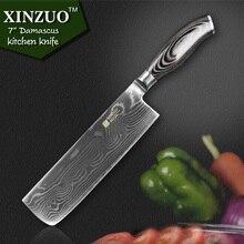 XINZUO 7 zoll küchenmesser 73 schicht Japanischen VG10 Damaskus edelstahl-kochmesser Japanischen frau kochmesser holzgriff kostenloser shiping