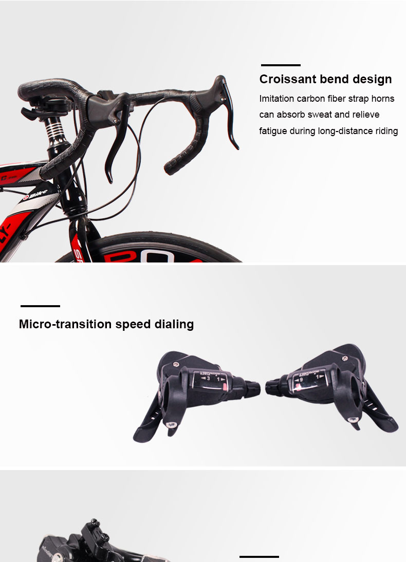 HTB1zyaebkT2gK0jSZPcq6AKkpXac Road Bike Fixed Gear Bicycle 26 inch 24/27 Speed Shift Bend Double Disc Brake Adult Student Men And Women