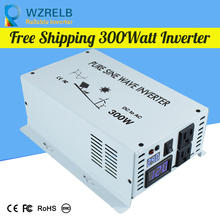 цена на Free Shipping Peak Full Power 300W pure sine wave inverter with charger 24V Inverter for RV  DC to AC Off Grid Converter