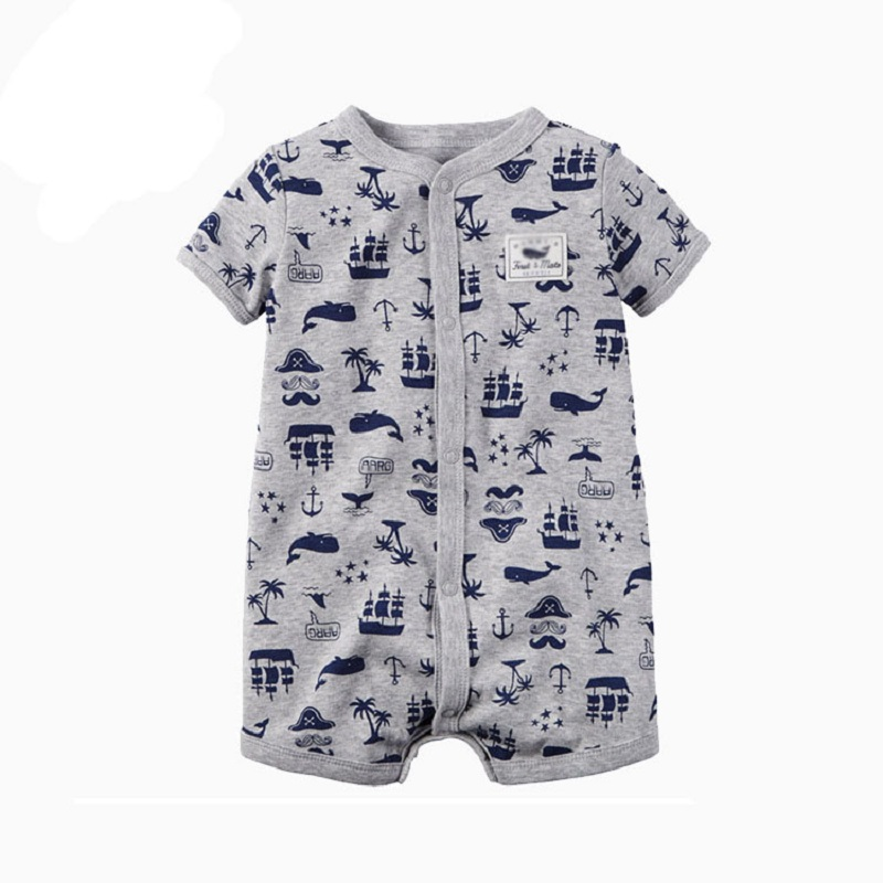 2017 Summer Brand Baby Rompers Short Sleeve Baby boy Clothing Kids Jumpsuits Newborn Baby Boy Clothes Roupas jacket 100% cotton цена